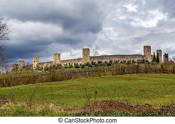 Wall of Monteriggioni. Italy