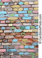 Wall of old brick