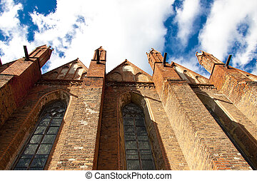 Wall of old church in Chelmno - Poland.