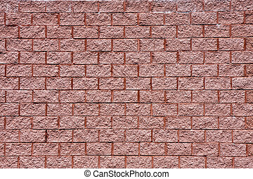 Wall of Old Red Textured Brick