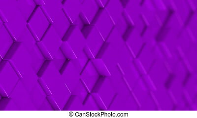 Wall of purple cubes moving in a random pattern.