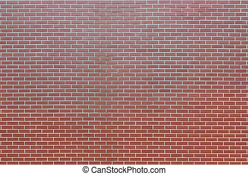 Wall of red brick