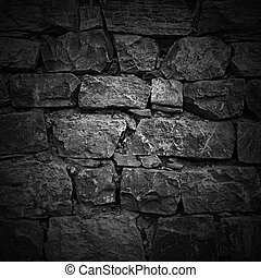 wall of rough stones. light effect - wall of rough stones in...