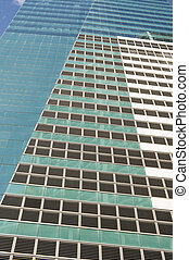 Wall of skyscrapers with windows