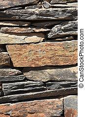 Wall of slate