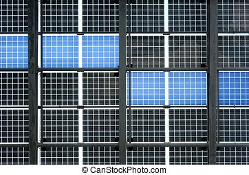 Wall of Solar Panels