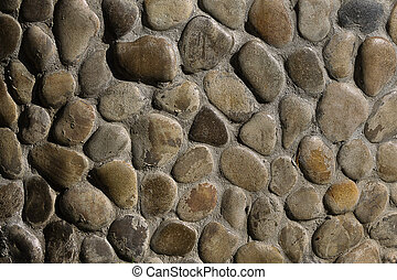 wall of the brown stone