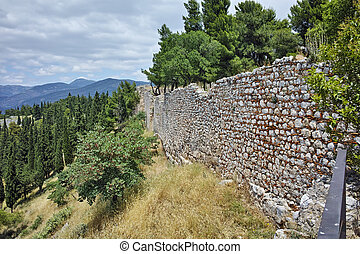 Wall of the castle of Lamia City
