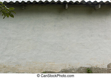 Wall of the clay house