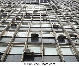 Wall of the high-rise building.