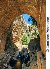 Wall of The New Bridge - Puente Nuevo in Ronda, Province Of Mala