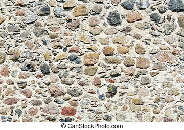 Wall of the stone castle