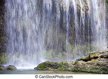Wall of Water - The view of Kursunlu waterfall in Antalya...