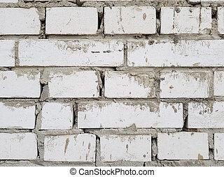 wall of white bricks close-up