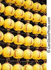 Wall of Yellow Lanterns