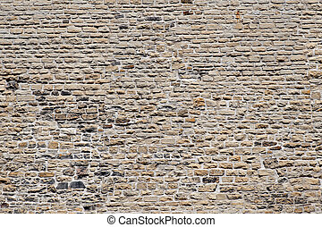 Wall - old historic stone wall, Gothic architecture