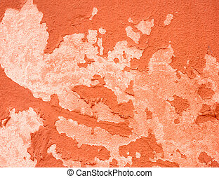Wall old textured orange background