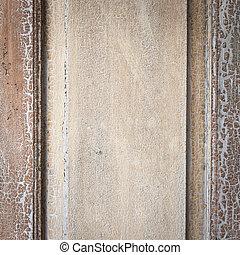 Wall old wooden door