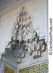 Wall ornaments of the Blue Mosque
