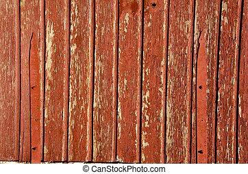wall., oud, houten, gebouw