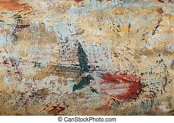 wall paint texture background with color paint and cracked ...