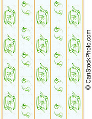 Wall-paper. - A strip of paper wall-paper with simple ...