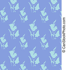 Wall paper of a flower pattern