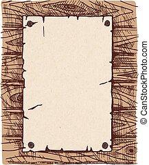 wall., papier, bois, vieux