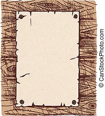 wall., papier, houten, oud