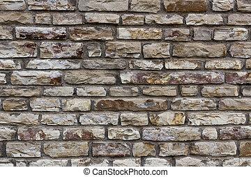 Wall  - Irregular stone wall.