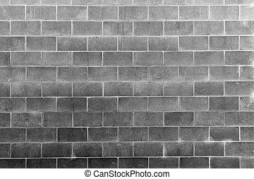 Wall - Closeup of grey block wall