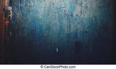 wall plaster background blue old cracks light movement the...