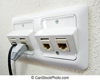 Electric socket. Element of design.
