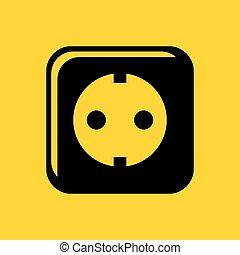 Wall power socket icon