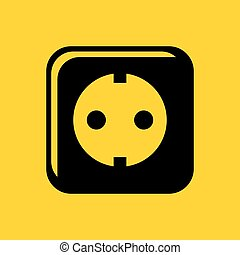 Wall power socket icon