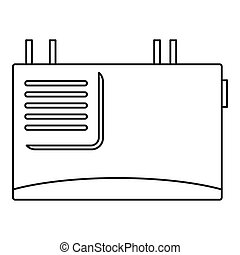 Wall router icon, outline style