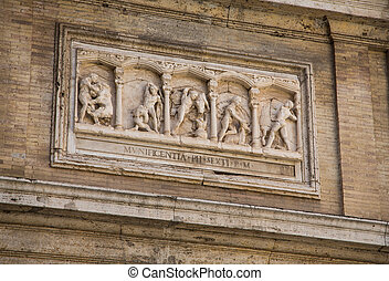 Wall Sculpture in Vatican Museum - Ancient relief sculpture...