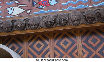 Wall sculpture of the Papua New Guinea Parliament House - A...