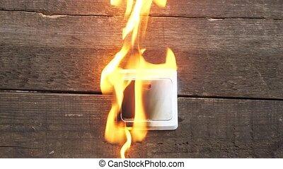 wall socket, smoke, fire occurred - wall socket, smoke fire...