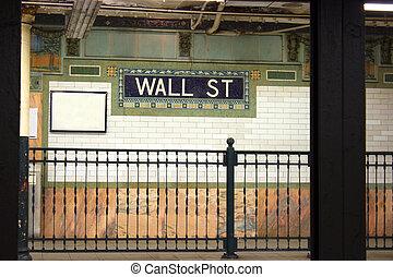 Wall St. subway stop, NYC
