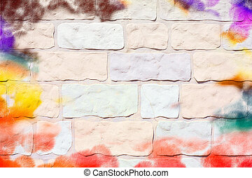Wall with paint marks as an unusual background image