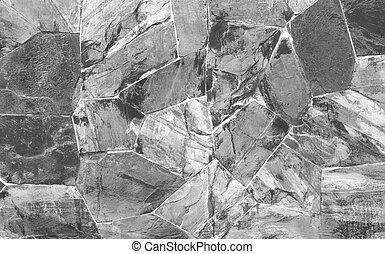 Wall stone black
