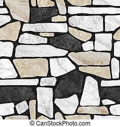 Wall stone pattern background.