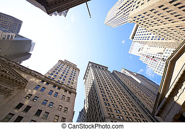 Wall Street buildings - Highrise buildings at the Wall...