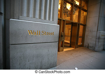 wall street, in, new york, usa