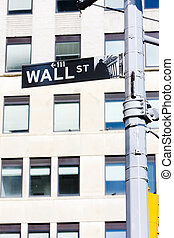Wall Street Sign, , New York City, USA