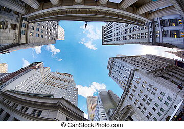 Wall Street skyscrapers