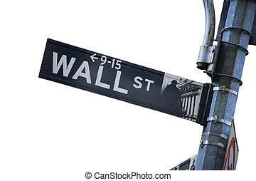 Wall Street - Wall street sign