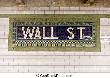 Wall Street Subway Station, New York City