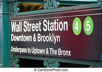 Wall Street Subway Station, New York